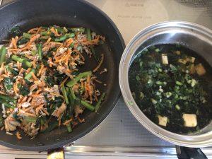 ビビンバとスープ