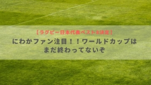 【ラグビー日本代表ベスト8決定】にわかファン注目!!ワールドカップはまだ終わってないぞ